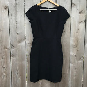 J. Crew Factory Black Business Fitted Sheath Dress